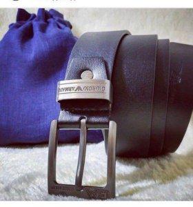 Кожаный ремень Armani мужской новый