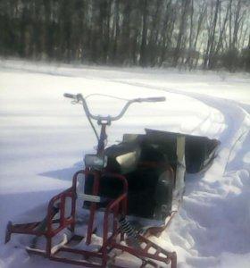 Мотобуксировщик с лыжным модулем