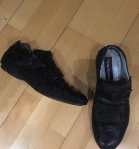 Кожаные кроссовки Cesare Posbotti