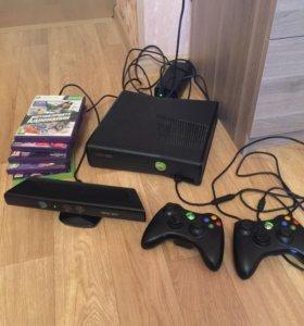Xbox 360 на 250+2 джойстика+Кинект+много игр