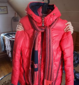 куртка с шарфом и капишеном