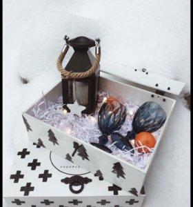 Коробка из дерева подарок