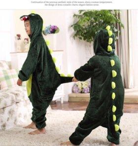 Пижама- крокодил, детская, кигуруми