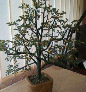 Дерево из бисера. Лимон.