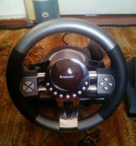 Нов. игровой руль с педалями