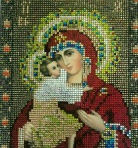 Алмазная мозаика 21*24 (Икона Божья Матерь)