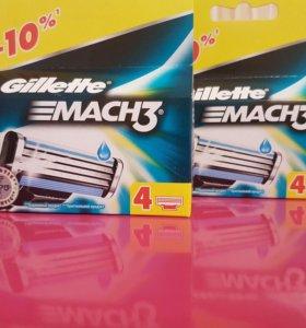 Кассеты Gillette mach-3, 4шт (4уп)
