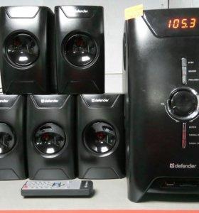 Акустика 5.1 80ват USB радио