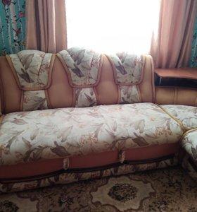 Диван-кровать угловой.Кресло-кровать.
