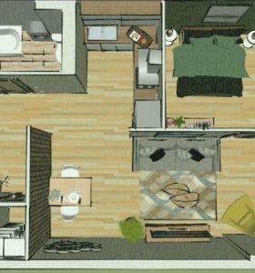 Дизайн проект с 3D визуализацией