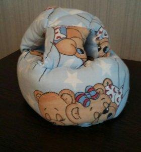 Шапка шлем для головы младенца от ударов