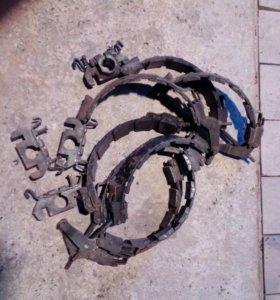 Тормозные ленты с кронштейнами газ71
