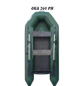 Лодка моторная Ока 260 РН с реечным настилом