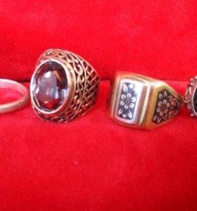 Кольца серебро 925; 875