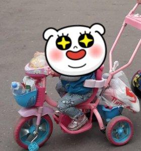 Велосипед детский розовый