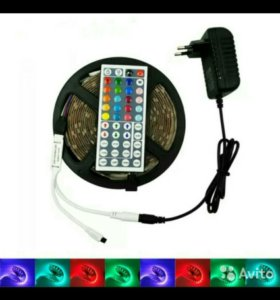 RGB лента 5м +блок питания+контроллер+пульт