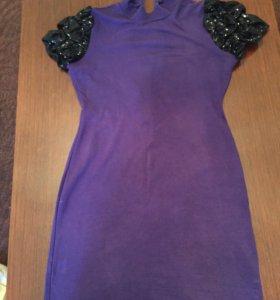 Платье - туника сиреневое
