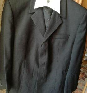 Костюм мужской двойка+ рубашка белая+ галстук