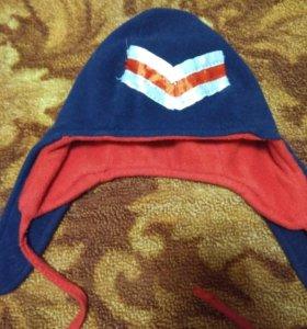 Двойная флисовая шапка