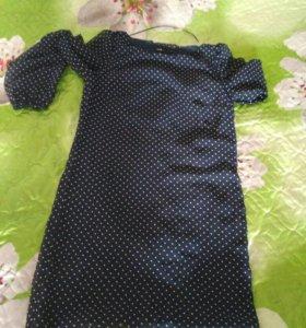 Платье в горошек 42р,