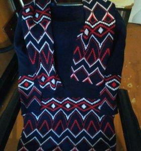 Платье с шарфом размер единый 42-48