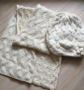 Новый комплект шапка+шарф