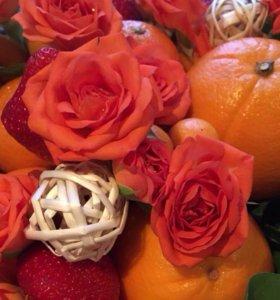 Букет из фруктов , сладкий букет