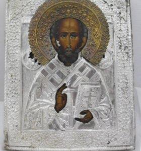 Икона «Николай Чудотворец» №16. Живопись 19 век