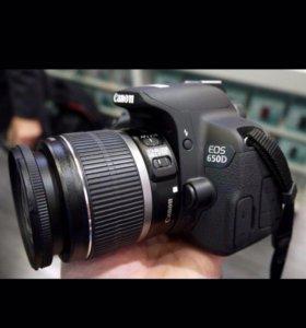 Фотоаппарат Canon eos 650 D новый