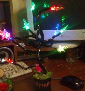 Светящееся дерево. Подарок.
