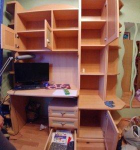 Письменный стол с модулями. Лазурит
