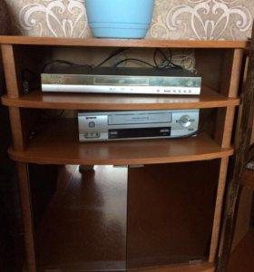Подставка, DVD плеер, видео магнитофон