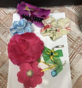 Заколки и брошки с цветами