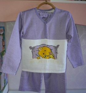 Пижама утепленная, новая