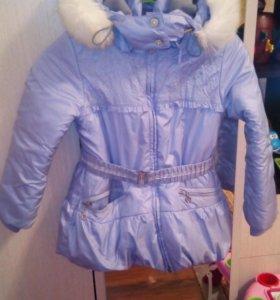 Куртка для девочки, теплая