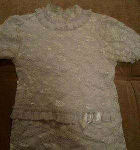Белая блуза 8—9-10 лет