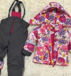 Детский пуховик осень-весна на девочку