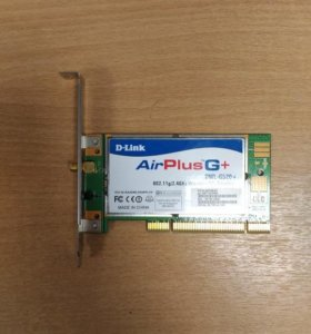 PCI wifi адаптер D-Link DWL-G520