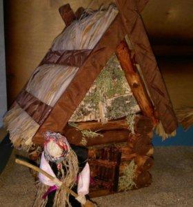 Домик игрушечный из дерева ..ручная работа