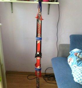 Лыжи с палками 140 см