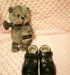 Лаковые туфельки, туфли на липучке