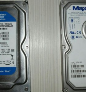 Жесткие диски IDE Maxtor и Western Digital
