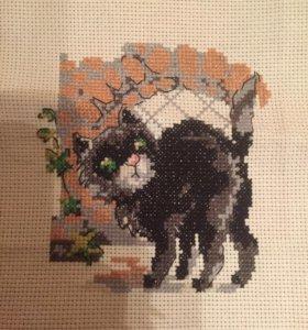 Кошка вышивка крестом