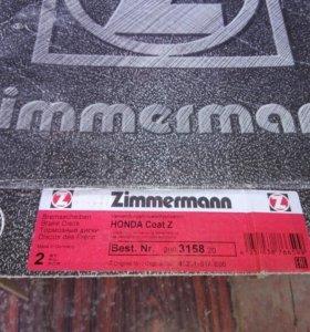 Диски тормозные передние zimmermann 280315820