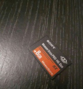 Карта памяти 8gb Sony Memory Stick Pro-HG DUO