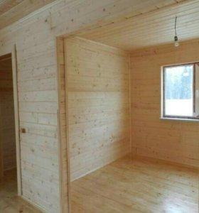 Отделка деревянных домов,дачи, бани.