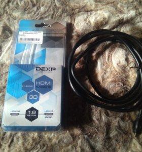 Новый Кабель HDMI-micro HDMI DEXP