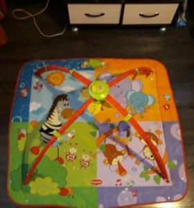 Детский развивающий коврик, с мелодией и подсветк
