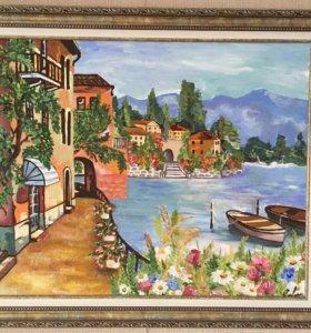 Картина маслом «Романтический пейзаж»