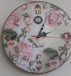 Часы декупаж ручная работа